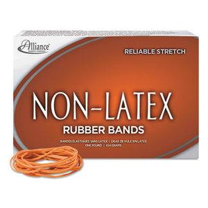 Alliance Rubber Company 37196 Non-Latex Rubber Bands, Sz. 19, Orange, 3-1/2 x 1/16, 1750 Bands/1lb Box by ALLIANCE RUBBER