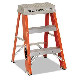 """LOUISVILLE FS1502 Fiberglass Heavy Duty Step Ladder, 28.28"""", Orange, 2 Steps by LOUISVILLE"""