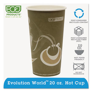 Evolution World 24% PCF Hot Drink Cups, 20oz, Gray, 1000/Carton by ECO-PRODUCTS,INC.
