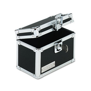 IdeaStream Consumer Products, LLC VZ01169 Vaultz Locking Index Card File with Flip Top Holds 350 3 x 5 Cards, Black by IDEASTREAM CONSUMER PRODUCTS
