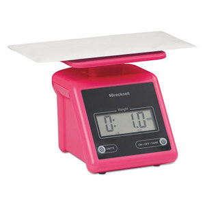 SALTER BRECKNELL PS7P Electronic Postal Scale, 7 lb Capacity, 5 1/2 x 5 1/5 Platform, Pink by SALTER BRECKNELL