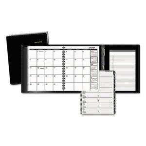 AT-A-GLANCE 70-120P-05 Plus Monthly Planner, 6 7/8 x 8 3/4, Black, 2016 by AT-A-GLANCE