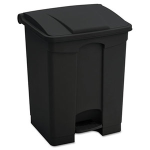 Safco Products 9923BL Large Capacity Plastic Step-On Receptacle, 23gal, Black by SAFCO PRODUCTS