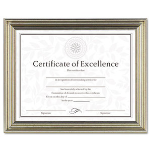 DAX MANUFACTURING INC. N1818N2T Antique Colored Document Frame w/Certificate, Plastic, 8 1/2 x 11, Silver by DAX MANUFACTURING INC.