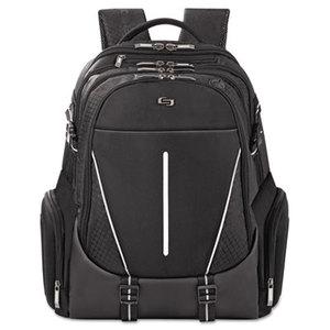 """UNITED STATES LUGGAGE ACV7004 Active Laptop Backpack, 17.3"""", 12 1/2 x 6 x 18 3/4, Black by UNITED STATES LUGGAGE"""
