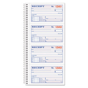 Cardinal Brands, Inc SC1152 Two-Part Rent Receipt Book, 2 3/4 x 4 3/4, Two-Part Carbonless, 200 Forms by CARDINAL BRANDS INC.