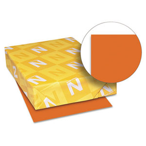 Neenah Paper, Inc 22561 Astrobrights Colored Paper, 24lb, 8-1/2 x 11, Orbit Orange, 500 Sheets/Ream by NEENAH PAPER