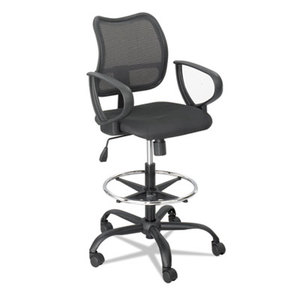 Safco Products 3395BL Vue Series Mesh Extended Height Chair, Acrylic Fabric Seat, Black by SAFCO PRODUCTS