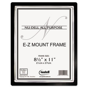 Nu-Dell Manufacturing Company, Inc 13880 EZ Mount II Document Frame, Plastic, 8-1/2 x 11, Black/Silver by NU-DELL MANUFACTURING