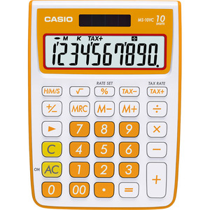 MS-10VC 10 Digit Desktop Calculator with Extra Large Display (Orange)