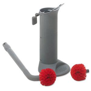 Unger BBWHR Ergo Toilet Bowl Brush System: Wand, Brush Holder & 2 Heads by UNGER