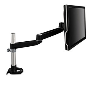 3M MA140MB Dual-Swivel Monitor Arm, 4 1/2 x 25 1/2, Black/Gray by 3M/COMMERCIAL TAPE DIV.
