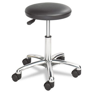 Safco Products 3434BL Height Adjustable Lab Stool, 13-1/2 dia. x 21h, Black by SAFCO PRODUCTS