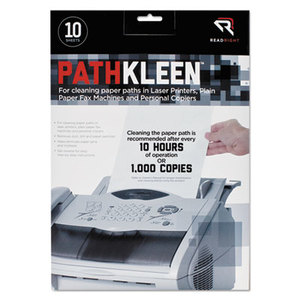READ/RIGHT RR1237 PathKleen Printer Roller Cleaner Sheets, 8 1/2 x 11, 10/Pack by READ/RIGHT