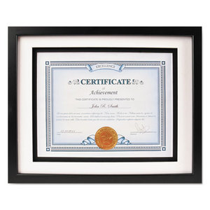 DAX MANUFACTURING INC. N15989ST Solid Wood Float Frame, 8 1/2 x 11; 11 x 14, Black by DAX MANUFACTURING INC.