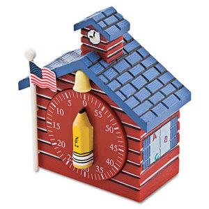 BAUMGARTENS 77062 Shaped Timer, 3/4 x 2 x 3 1/2, Red School House by BAUMGARTENS