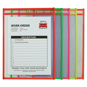 "C-Line Products, Inc 43920 Stitched Shop Ticket Holder, Neon, Assorted 5 Colors, 75"", 9 x 12, 10/PK by C-LINE PRODUCTS, INC"