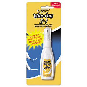 BIC WOPFP11 Wite-Out 2 in 1 Correction Fluid, 15 ml, Bottle by BIC CORP.